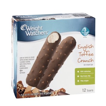 Weight Watchers English Toffee Crunch Ice Cream Bar - 12 CT