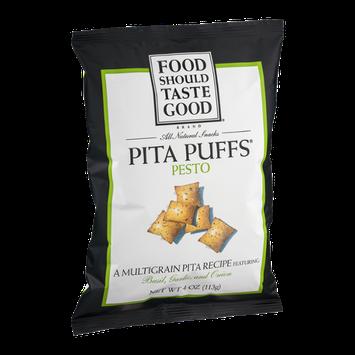 Food Should Taste Good Pita Puffs Pesto