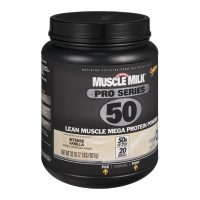 Muscle Milk Pro Series 50 Lean Muscle Mega Protein Powder Intense Vanilla
