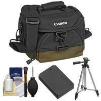 Canon 100EG Digital SLR Camera Case with LP-E12 Battery + Tripod + Accessory Kit for EOS M Camera