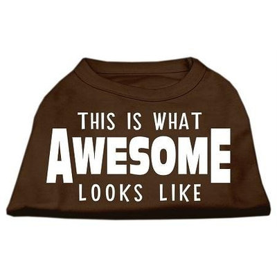 Ahi This is What Awesome Looks Like Dog Shirt Brown XXXL (20)