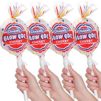 Diversified Licensing (Set/4) Charms Giant Blow Pop Containers w/ 8 Assorted Hard Candy Lollipops