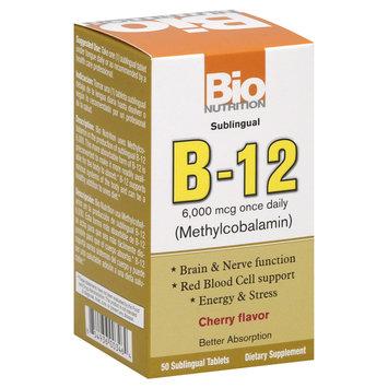 Bio-nutrition Bio Nutrition - B-12 Methylcobalamin Cherry Flavor 6000 mcg. - 50 Tablets