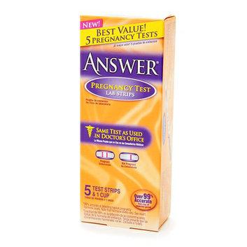 Answer Pregnancy Test Lab Strips