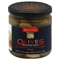 Divina Olives Stuffied with Sundried Tomato 7.8 oz. (Pack of 6)