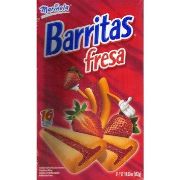 Marinela Barritas Fresa Strawberry Filled Cookies 16 Ct Box 18.07 Oz