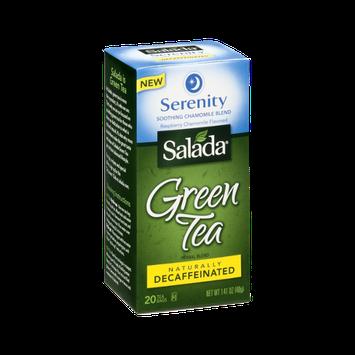 Salada Green Tea Bags Serenity Chamomile Blend Decaffeinated - 20 CT