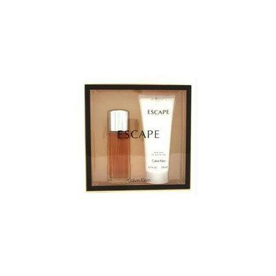 Calvin Klein 12805584014 Escape Coffret: Eau De Parfum Spray 100ml-3. 4oz plus Body Lotion 200ml-6. 7oz - 2pcs