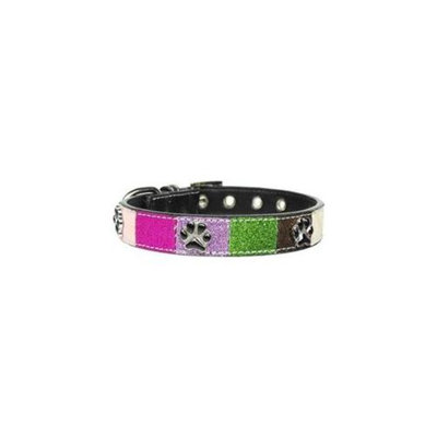 Mirage Pet Products 100-012 LGPK Ice Cream Collars Pink Paws Large