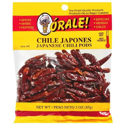 Orale Very Hot Japanese Chili Pods, 3 oz