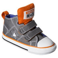 Toddler Converse One Star Mid Top Sneaker - Gray/Orange 9