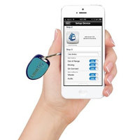 Radius Alert Systems LassoTag iBeacon - Light Blue: Bluetooth Low Energy (BLE) Tracking Beacon making Valuables Smarter for iOS / iPhone / iPod / iPad.