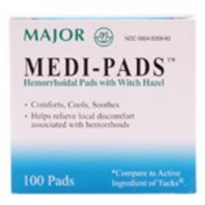Major Pharmaceuticals Major Medi-Pads 100 Ct. Jar (Compare to Tucks)