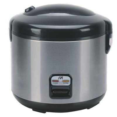 Sunpentown Small 6-Cup Stainless Steel Rice Cooker