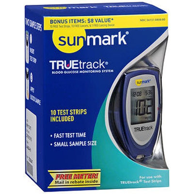 Sunmark Truetrack Blood Glucose Monitoring System, 1 each by Sunmark
