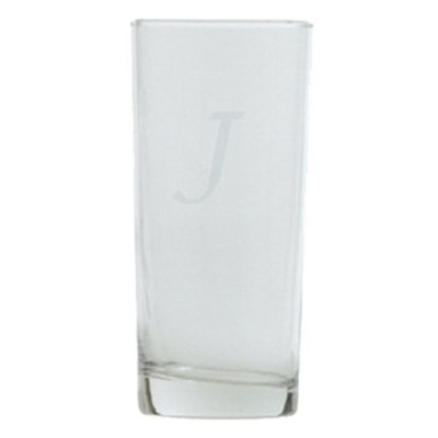 T&C Innovators Script Monogram Highball Set of 4 - J