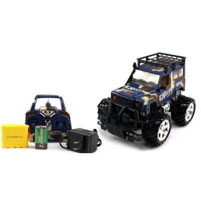 566 21H BIG SIZE RECHARGEABLE Electric Full Function 1:16 Military Armor Toyota Land Cruiser RTR RC Truck (COLORS MAY VARY) Remote Control Monster Truck!