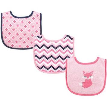Luvable Friends Pink Foxy Drooler Bib Set
