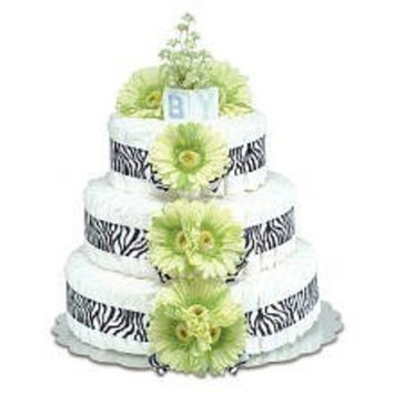 Bloomers Large Lime Green Daisy Diaper Cake