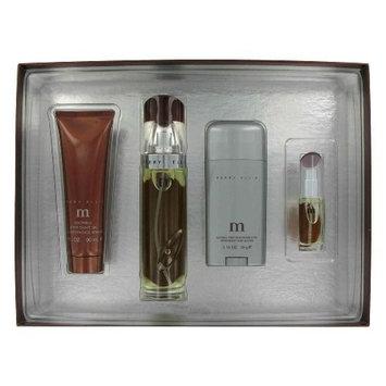Perry Ellis M By Perry Ellis Gift Set -- 3.4 Oz Eau De Parfum Spray + 2.75 Oz Deodorant Stick + 3.0 Oz After Shave Gel + .25 Oz Mini Edt Spray For Men