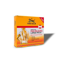 Tiger Balm Patch, Large, Pain Relieving Patch, 4-Count Packages, (Pack of 6)