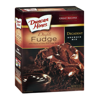 Duncan Hines Decadent Brownie Mix Double Fudge