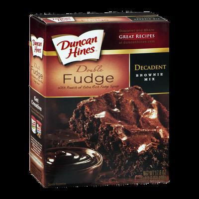Duncan Hines Decadent Brownie Mix Double Fudge