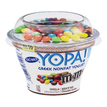 YoCrunch Yopa! Greek Nonfat Yogurt Vanilla with M&M's Milk Chocolate Candies