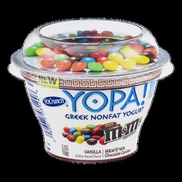 YoCrunch Yopa! Greek Nonfat Yogurt Vanilla with M&M's Milk Chocolate Candies