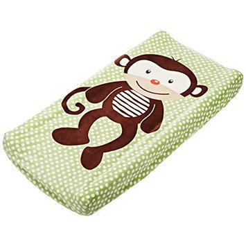 Summer Infant Plush Pals Changing Pad Cover, Green/Brown (Monkey)