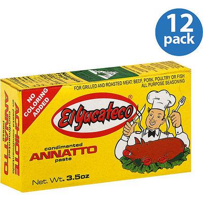 El Yucateco Condimented Annatto Paste, 3.5 oz (Pack of 12)