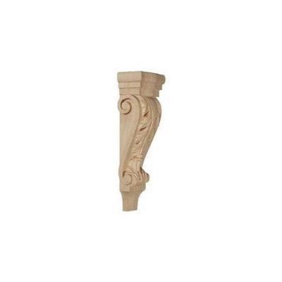 Ekena Millwork 5.125-in x 15.5-in Maple Acanthus Wood Corbel