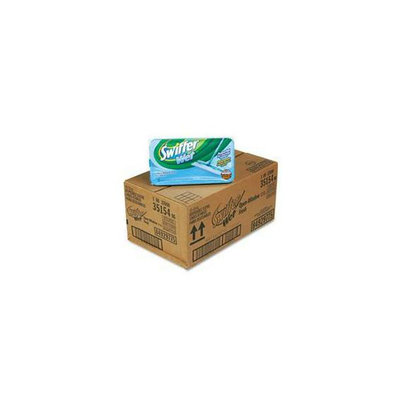 PG Procter & Gamble 35154CT Swiffer Sweeper Wet Refill System  Cloth  White  12/box