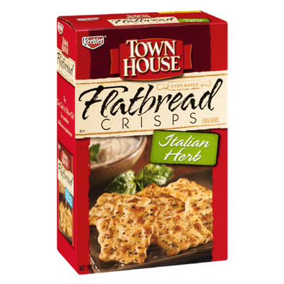 Keebler Town House Italian Herb Flatbread Crisps Crackers