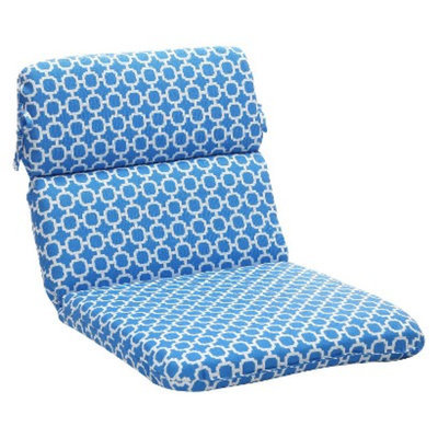 Pillow Perfect Outdoor Chair Cushion - Blue/White Geometric
