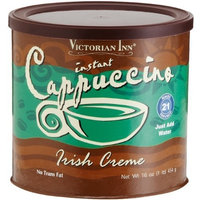 Victorian Inn Instant Cappuccino, Irish Creme, 16-Ounce Canisters (Pack of 6)