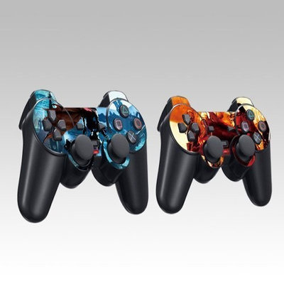 Pacers Design Skin Decal Sticker for the PS2 (Playstation 2) Controller (2pcs in 1)
