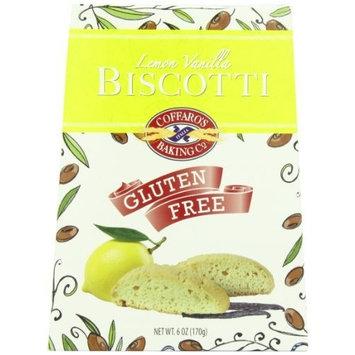 Coffaro's Baking Company Biscotti, Lemon Vanilla, 6-Ounce (Pack of 3)