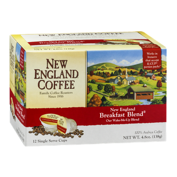 New England Coffee Breakfast Blend Single Serve Cups - 12 CT