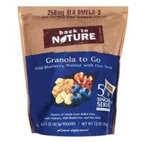 Back to Nature Granola to Go, Wild Blueberry Walnut, 7.5 oz