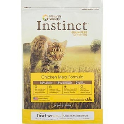 Nature's Variety Instinct Grain-Free Chicken Meal Formula Dry Cat Food, 5.5 lbs.