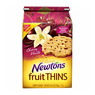 Nabisco Newtons Fruit Thins Cherry Vanilla Crispy Cookies