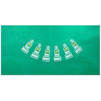 Trademark Poker Pai Gow Felt Layout - 36 x 72 inch