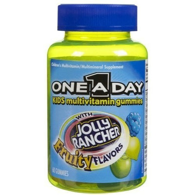 One A Day Kids Jolly Rancher Multi Gummies, Fruity Flavors, 60 ct