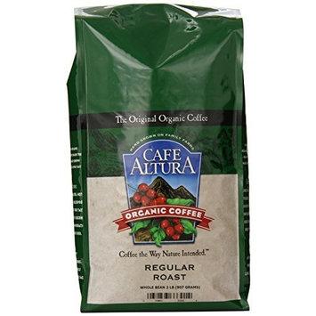 Cafe Altura Organic Coffee, Regular Roast, Whole Bean, 32-Ounce Bag