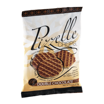 Pizzelle Crisps Crispy Waffle Cookies Double Chocolate