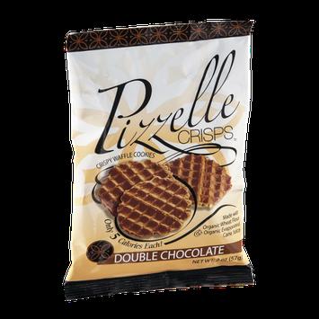 Pizzelle Crisps Crispy Waffle Cookies Double Chocolate