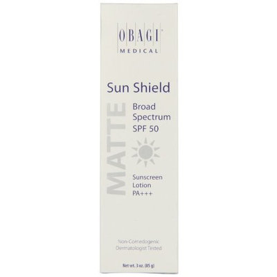 Obagi Medical Sun Shield Broad Spectrum SPF 50 Matte Sunscreen Lotion, 3 Ounce