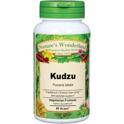 Nature's Wonderland Kudzu Root Herbal Supplement Capsules, 575 mg, 60 Count Bottle
