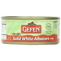 Gefen Tuna Solid White in Oil Passover, 6-ounces (Pack of 8)